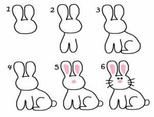 sencillos dibujos conejo