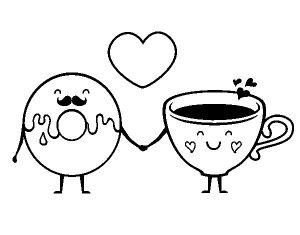 amor-entre-donut-y-te-colorear