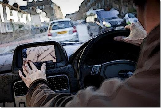 Satnav use in car
