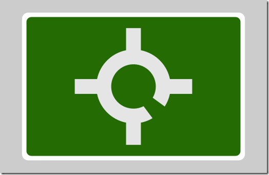 Symmetrical Roundabout sign