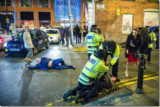 Manchester New Year's Eve photograph