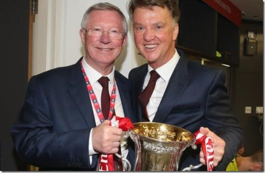 Louis van Gaal and Ferguson