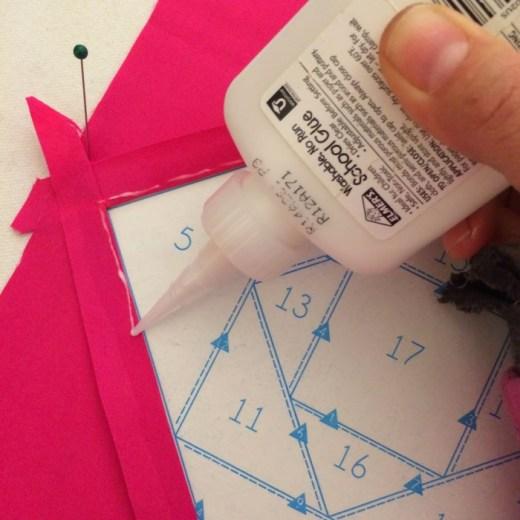 Glue basting quilt tutorial