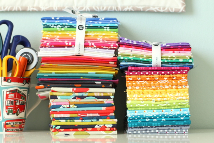 New Fabric Rainbow quilts