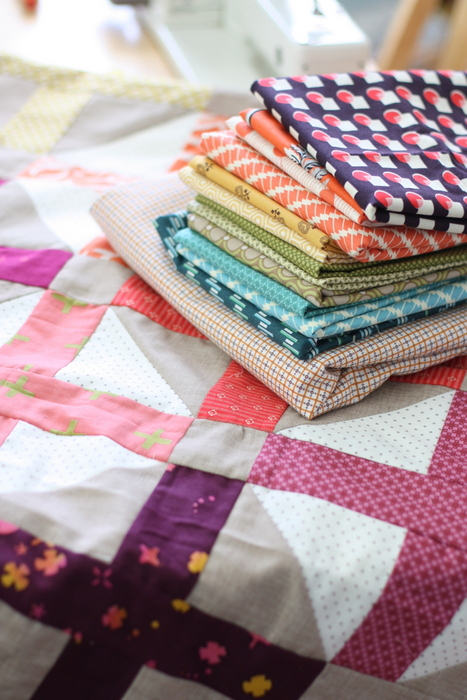 piecing a quilt back