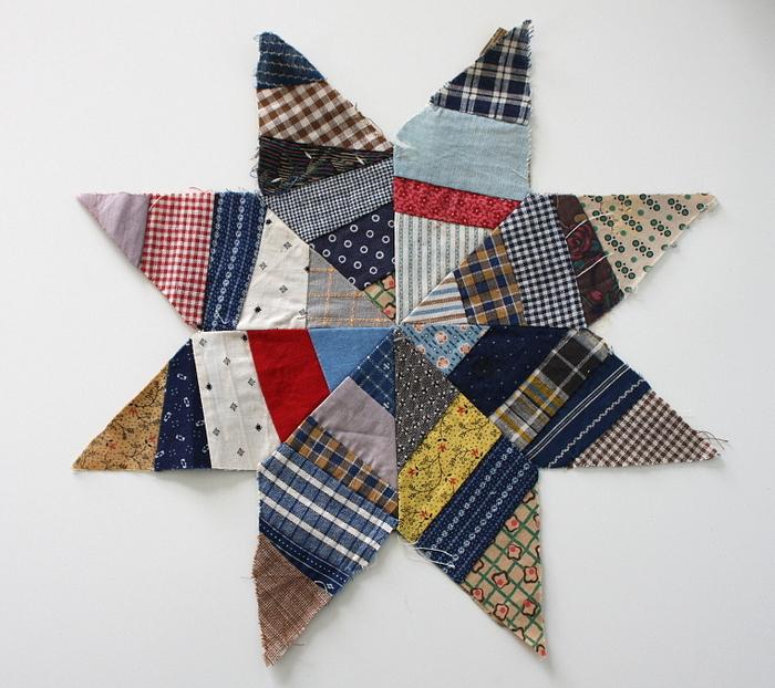 Vintage paper-pieced star