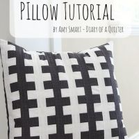 "Black and White ""Zipper Teeth"" pillow tutorial"