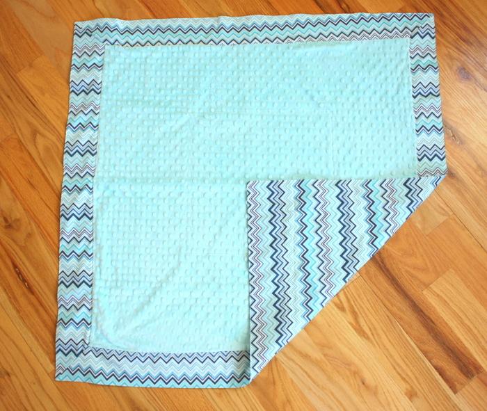 mitered corner baby blanket-001