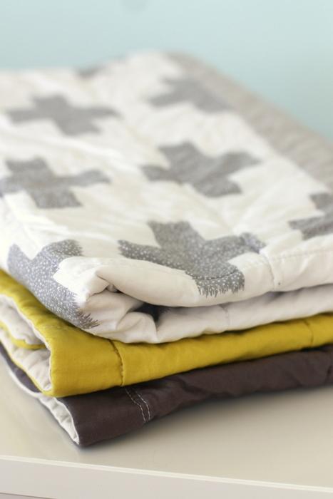 Handmade beginner baby quilt