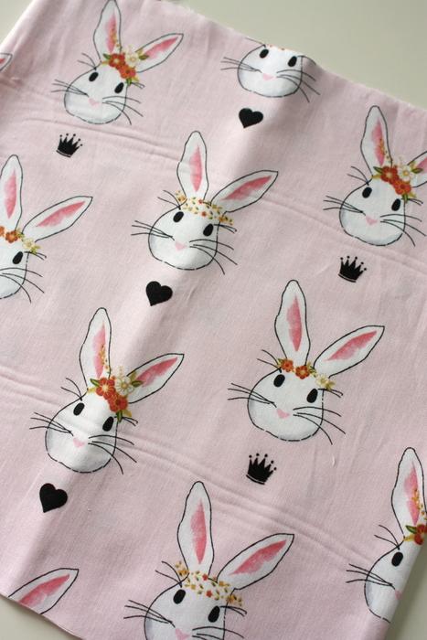 Wonderland fabric rabbits Riley Blake