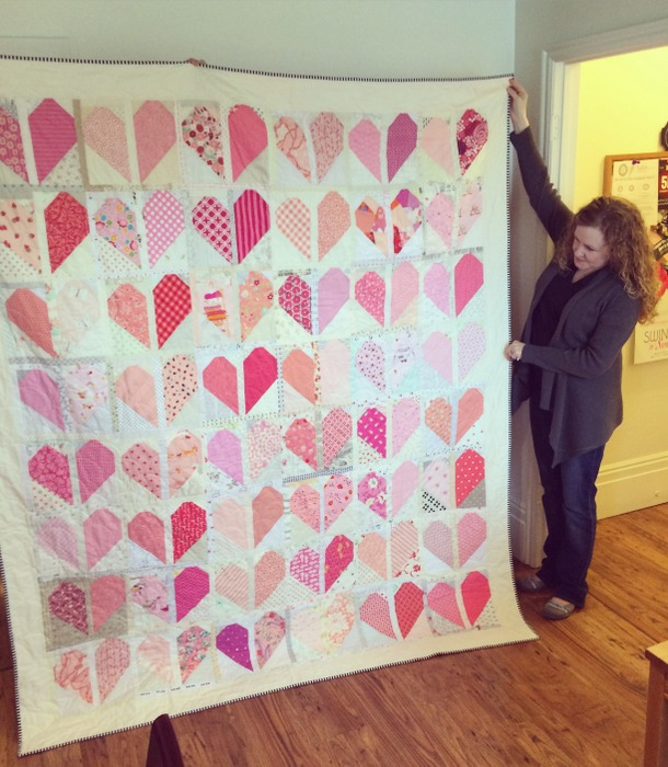 Andy and breast cancer quilt