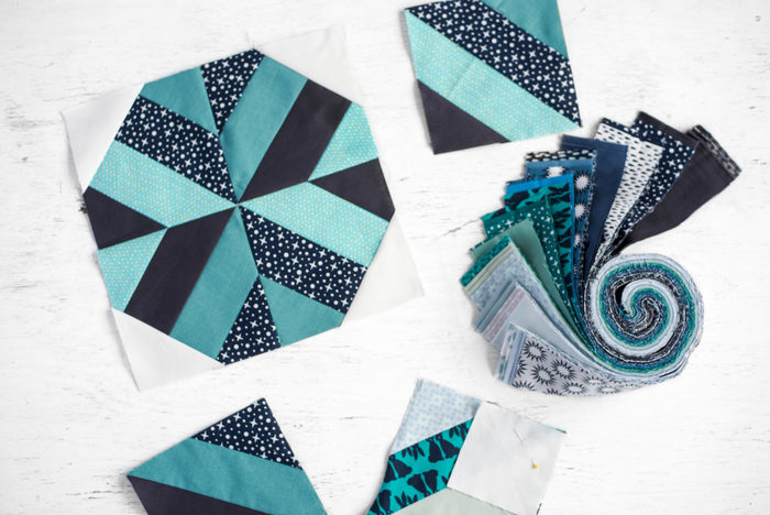 Jelly Roll precuts quilt pattern
