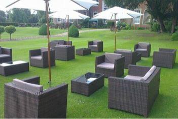 Brown Rattan Furniture Sofa Set