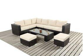 Ratan Furniture Large Corner Sofa Set