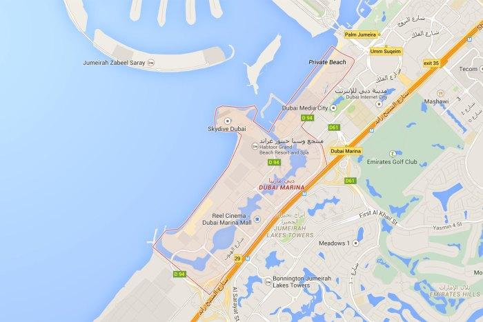 Plan Dubai Marina