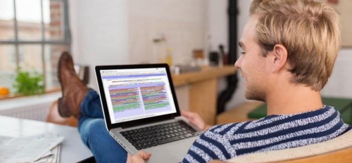 Gegenüberstellung der Quelle und der Überarbeitung während der Plagiatsprüfung