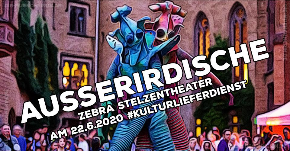 Ausserirdische Zebra Stelzentheater Kulturlieferdienst
