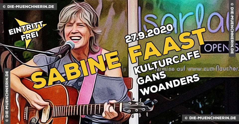 Sabine Faast im Kulturcafe Gans Woanders