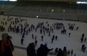 Snowball fight Neyland stadium