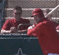 Brian Urlacher batting practice angels