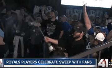 Eric Hosmer Fans celebrate