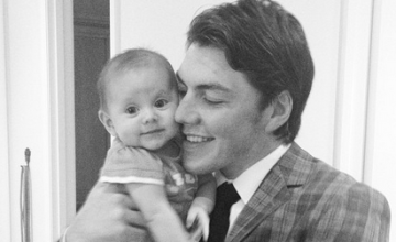 TJ Oshie and daughter Lyla
