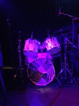 Schlagzeug ohne Christop Leich.