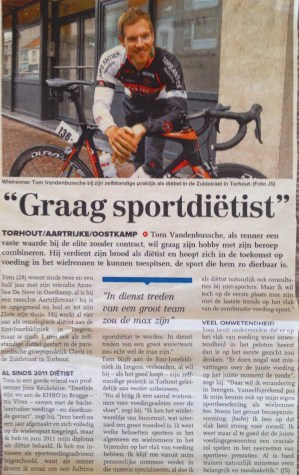 krantenartikel in Krant van West-Vlaanderen bij opstart in praktijk Clavis