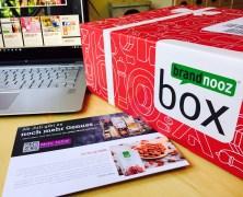 Die Brandnooz Genuss Box Mai 2016 + unboxing Video