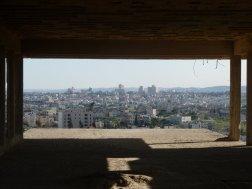 Blick von dem geplanten Palast des Jordanischen Königs auf dem Tell el Ful nach Westjerusalam