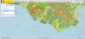 Geoportal - data on crops and hydrology