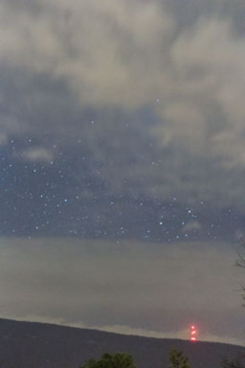 Night sky with lights