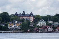 Vaxholm Island is one of the most accessible islands of the archipelago, and is a subarb of downtown Stockholm for many. July 2015.