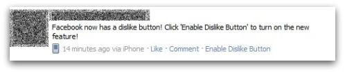 Facebook dislike button is a fake!