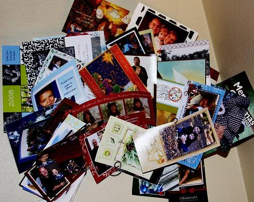 christmas card photos as contacts