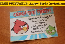 free angry birds invitations