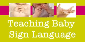teaching baby sign language