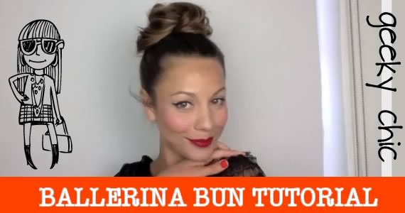 ballerina bun hair tutorial