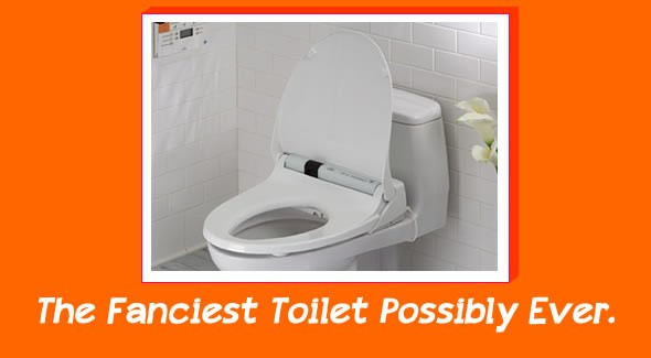 fancy toilet toto