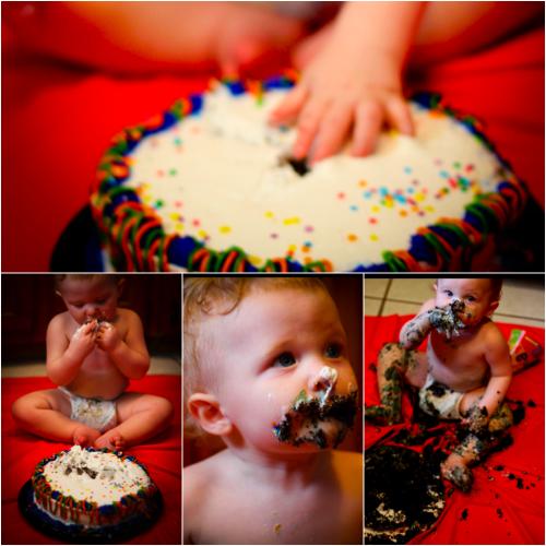 zeke smash cake