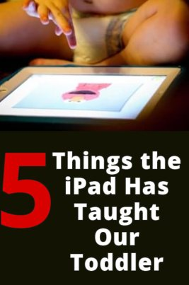 toddler learning on the ipad