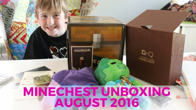 Minecraft Mine Chest Unboxing - August 2016