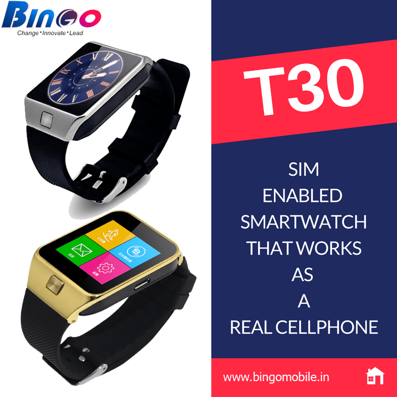 Bingo T30 Smartwatch launched in india