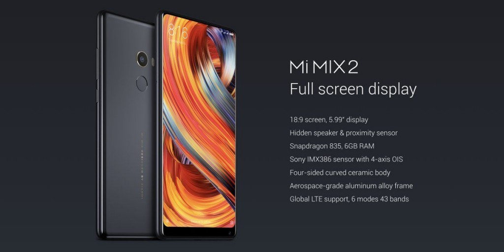Xiaomi Mi MIX 2 Specifications