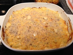 Right after coming out of the oven; all cheesy and bubbly!