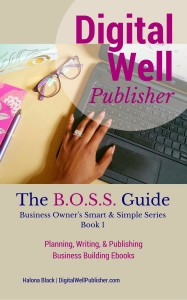 Kindle Cover - BOSSBook1 Planning Writing and Publishing Business Building Ebooks