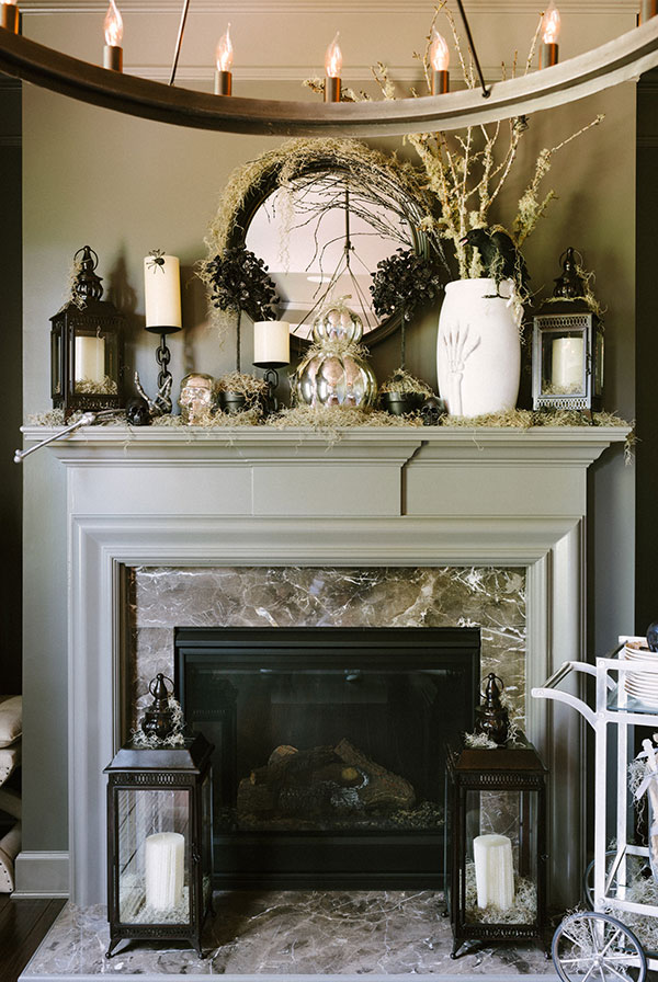 70 Great Halloween Mantel Decorating Ideas   DigsDigs great halloween mantel decorating ideas