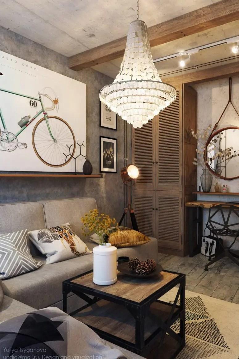 Fullsize Of Industrial Living Room