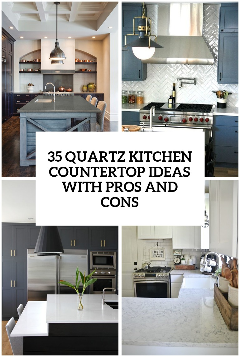 quartz kitchen countertops quartz kitchen countertops 29 Quartz Kitchen Countertops Ideas With Pros And Cons