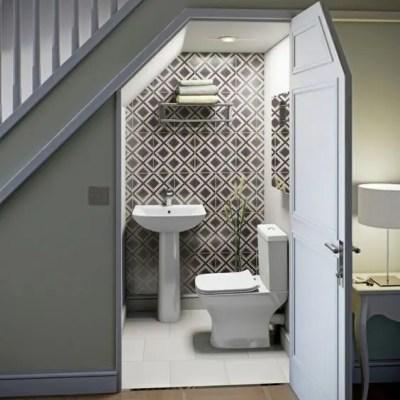 24 Powder Rooms And Laundries Under Stairs - DigsDigs